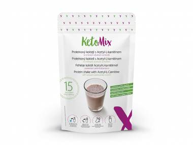 KetoMix Proteinový koktejl s Acetyl-L-karnitinem s příchutí vanilka-malina (15 porcí)