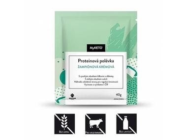 MyKETO Proteinová polévka žampiónová krémová, 40 g