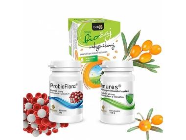 Podpora imunity, výhodný balíček s kolostrem, probiotiky a rakytníkem