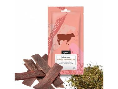 MyKETO Sušené maso HOVĚZÍ s bylinkami, 1 porce
