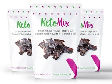KetoMix Sušené maso hovězí - pepř a sůl (3 porce)