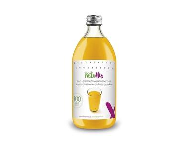 KetoMix Sirup s pomerančovou příchutí bez cukru (500 ml)
