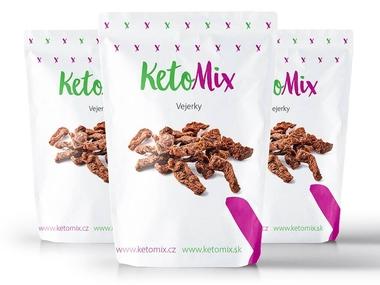 KetoMix Vejerky - vegetariánské sušené maso (3 porce) 90 g