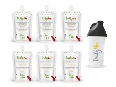DailyMix Jogurtové proteinové pyré s višňovou příchutí (5+1 zdarma) + ŠEJKR ZDARMA