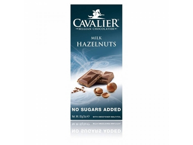 Cavalier Čokoláda MILK HAZELNUTS (slazená maltitolem) 85 g
