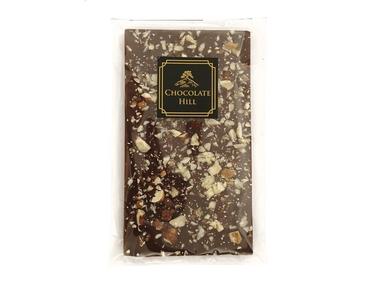 Chocolate Hill Čokoláda bez cukru S LÍSKOVÝMI A VLAŠSKÝMI OŘECHY 77 % (slazená erythritolem) 68 g
