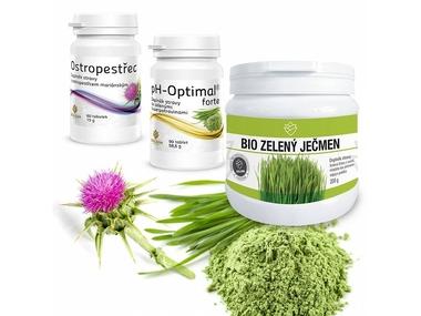 MyKETO Výhodný balíček DETOX (BIO Zelený ječmen, Ostropestřec, pH-Optimal Forte)