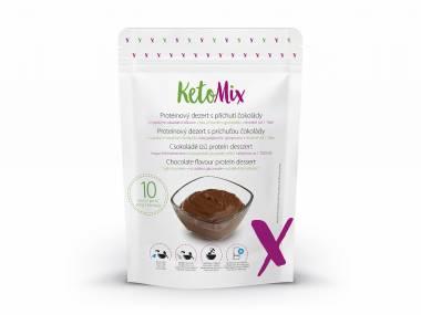 KetoMix Proteinový dezert s příchutí čokolády