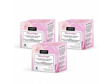MyKETO 3 pack Růžový kolagen, péče o pleť, akce (3×21 porcí)
