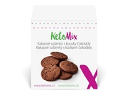 KetoMix Kakaové sušenky s kousky čokolády