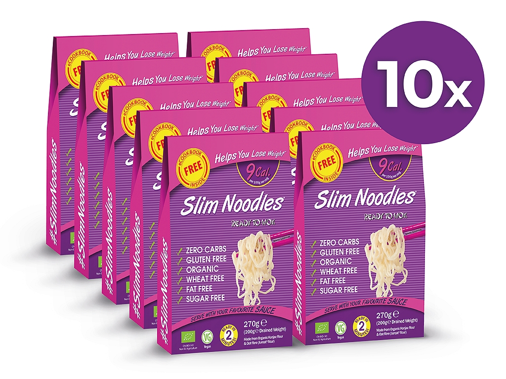 Slim Pasta Výhodný balíček Slim Pasta Rezance (10 ks) 2 500 g