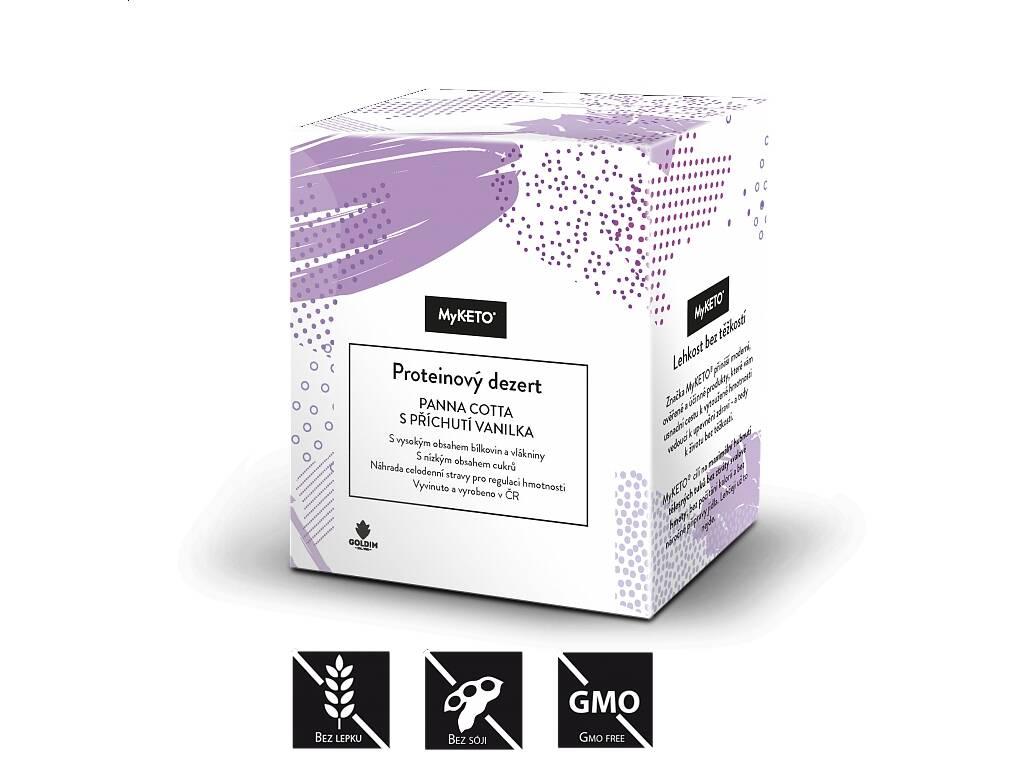 MyKETO Proteinová panna cotta s příchutí vanilka, 5x40 g