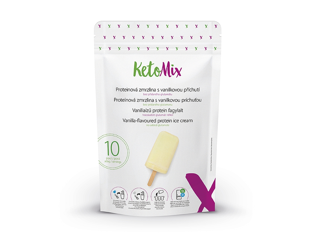 KetoMix Proteínová zmrzlina s vanilkovou príchuťou (10 porcií)