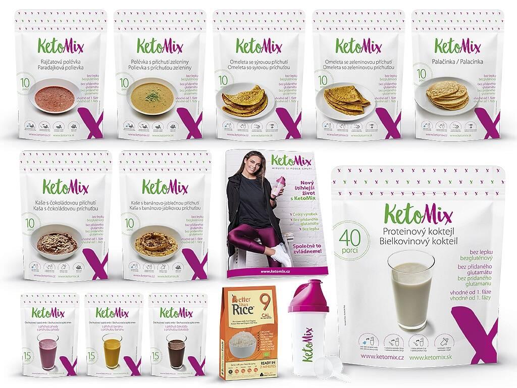 KetoMix Ketónová diéta na 3 týždne (110 porcií) 3 840 g