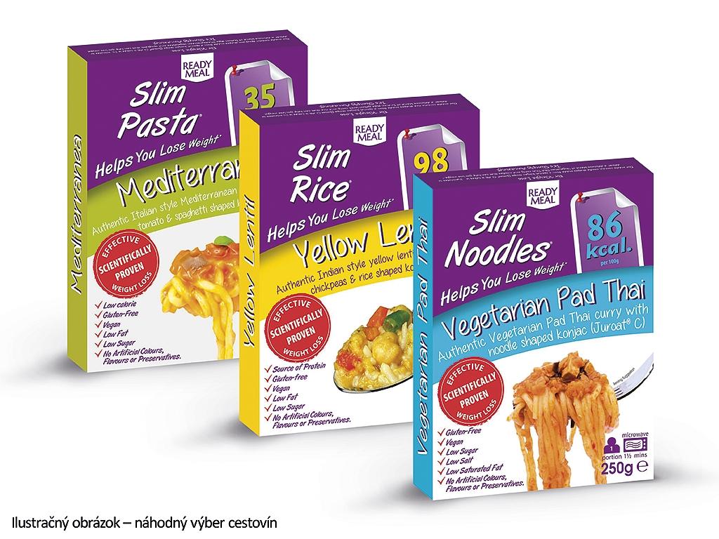 Slim Pasta Výhodný balíček Slim Pasta hotové jedlá s omáčkou (3 ks) 750 g
