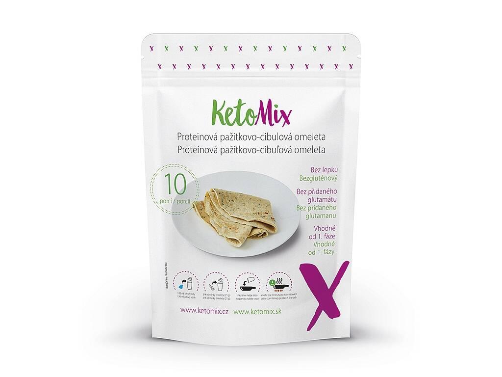 KetoMix Proteínová pažítkovo-cibuľová omeleta (10 porcií) 250 g