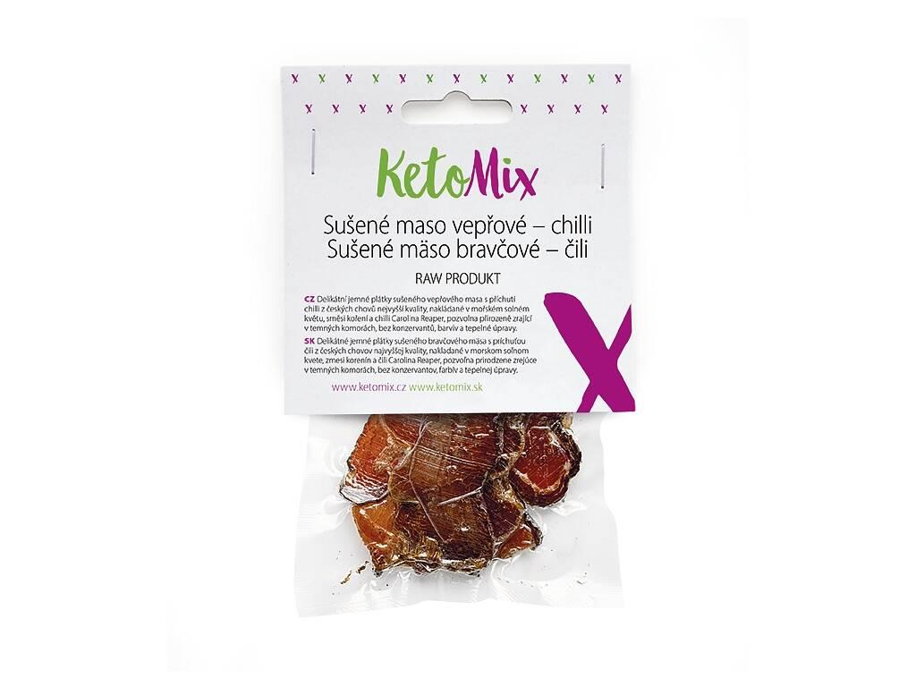 KetoMix Sušené mäso bravčové – chilli