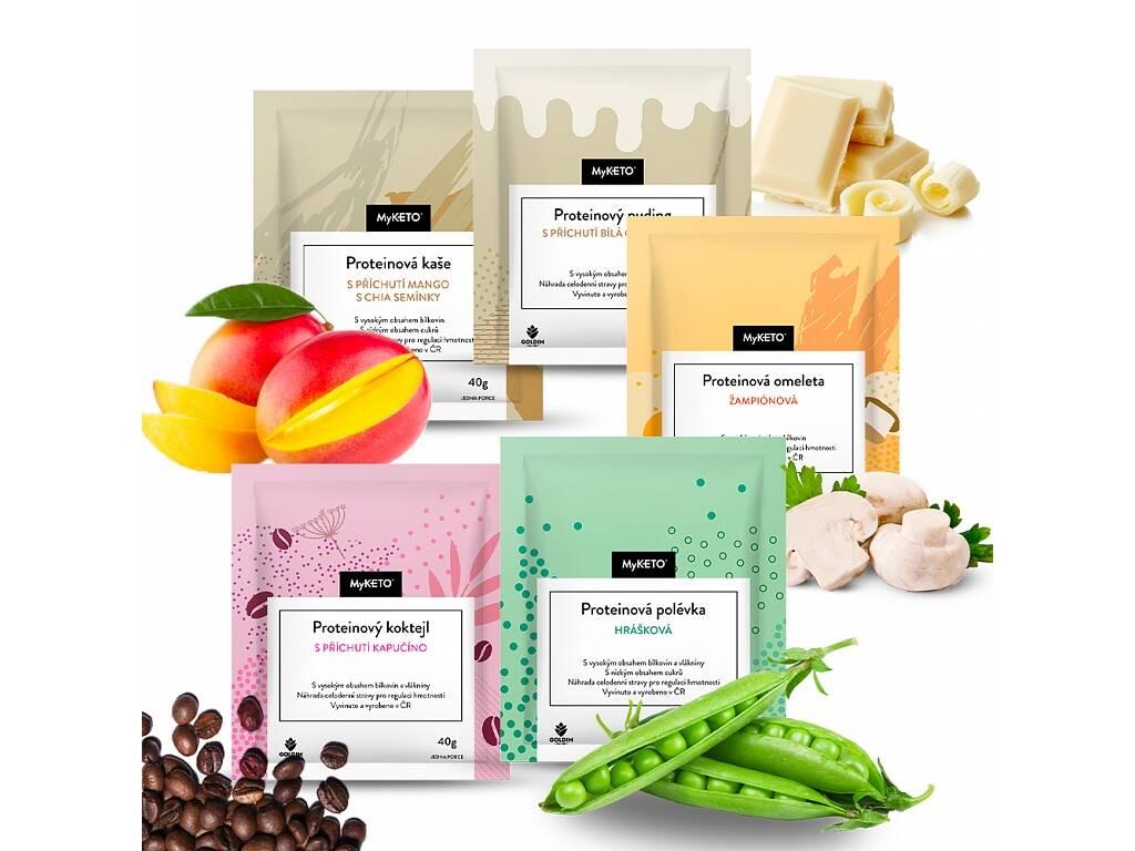 MyKETO proteinová keto dieta - MyKETO Proteinový balíček Ochutnej 5×, 215 g