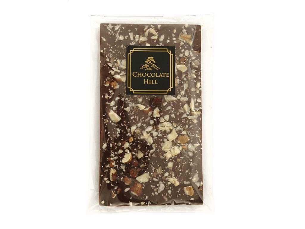 Chocolate Hill Čokoláda bez cukru S LIESKOVÝMI A VLAŠSKÝMI ORECHMI 77% (sladená erytritolom) 68 g