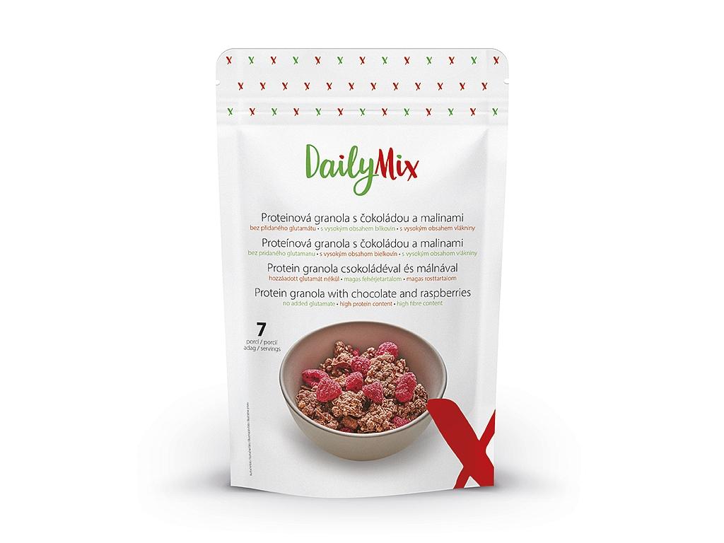 DailyMix Proteínová granola s čokoládou a malinami