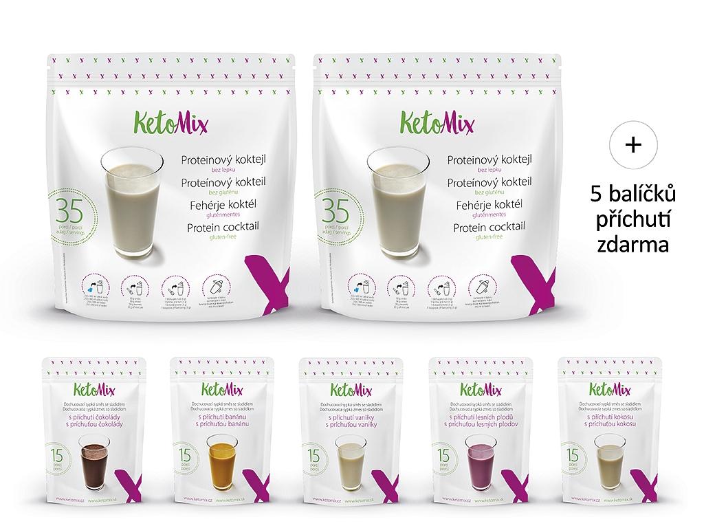 KetoMix Proteinový koktejl na 2 týdny