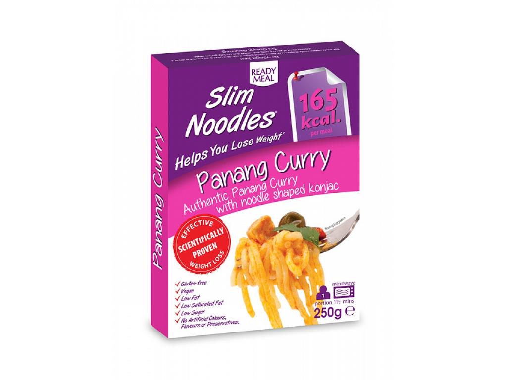 Slim Noodles Hotové jedlo s ázijskou omáčkou - zeleninové Panang Kari 250 g