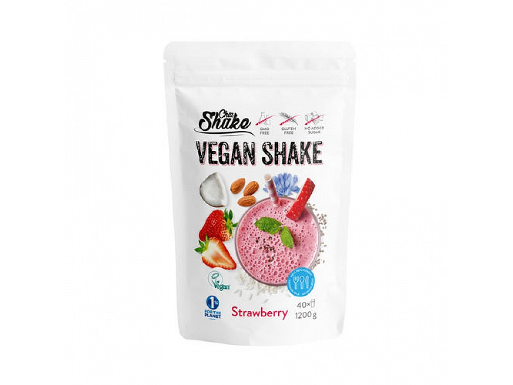 Chia Shake koktejl Vegan shake jahoda 1200g