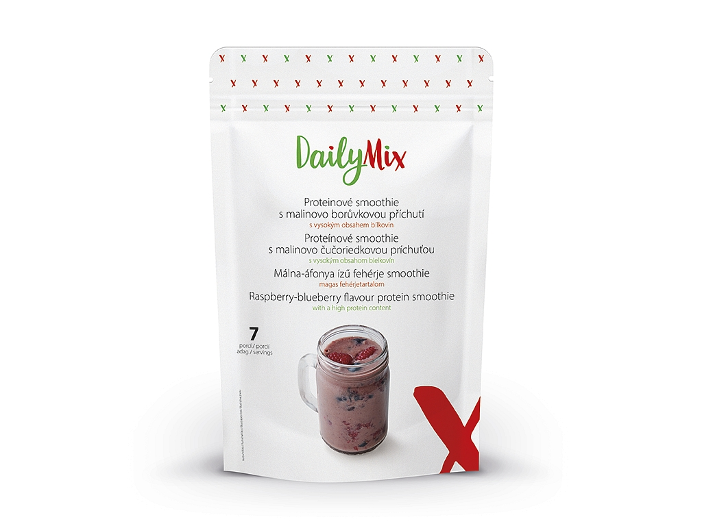 DailyMix Proteínové smoothie s malinovo-čučoriedkovou príchuťou