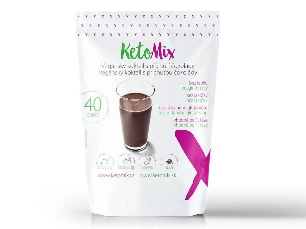 KetoMix Vegánsky koktail s príchuťou čokolády (40 porcií) 1 200 g