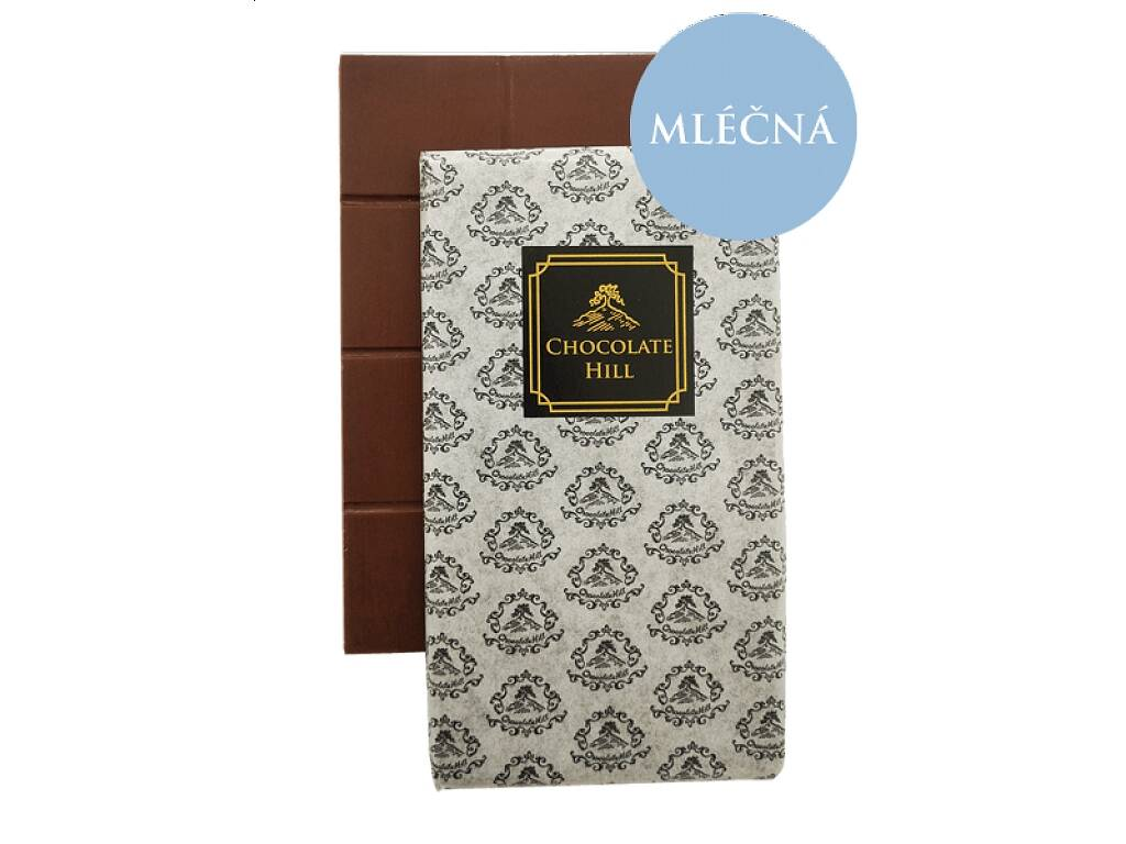 Chocolate Hill Čokoláda bez cukru MLÉČNÁ 52 % (slazená erythritolem) 60 g