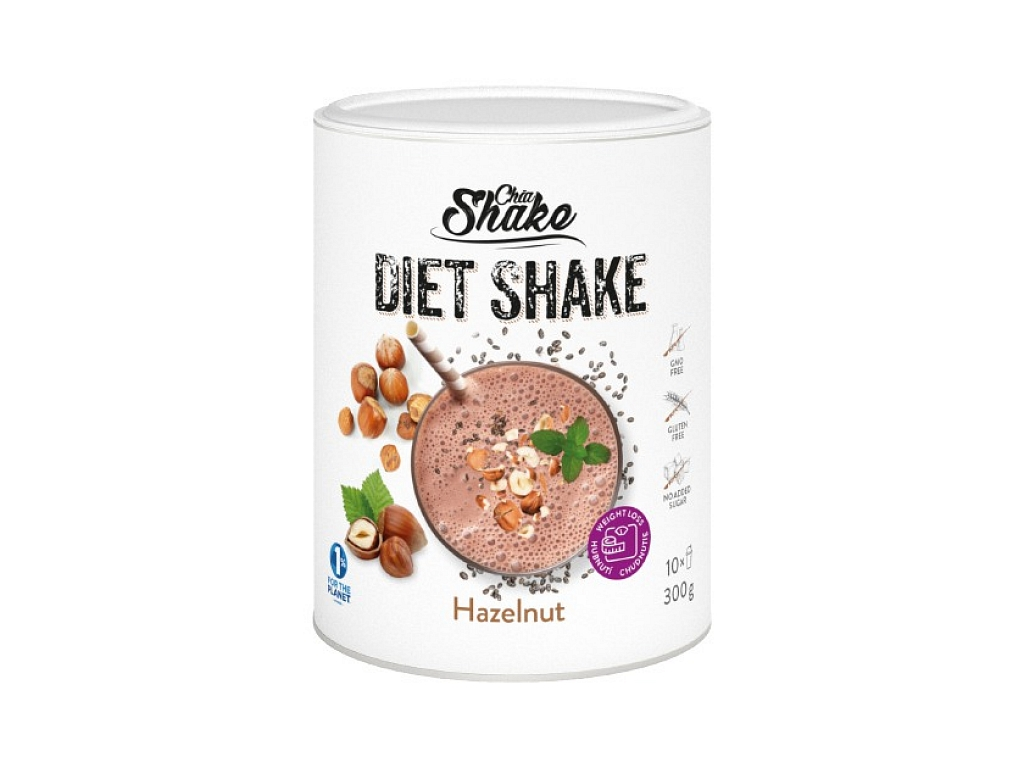 Chia Shake Diétny koktejl lieskový oriešok 300g