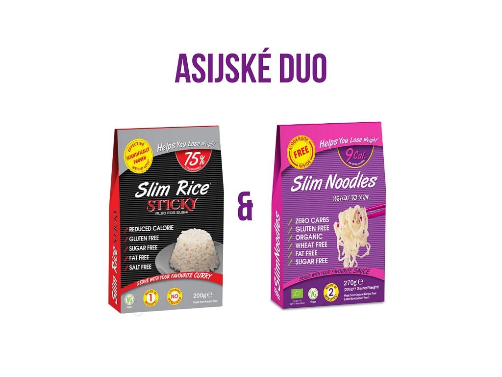Slim Pasta Výhodný balíček Slim Rice + Slim Noodles 470 g
