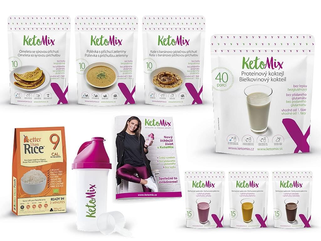 KetoMix Ketónová diéta na 2 týždne (70 porcií) 2 620 g