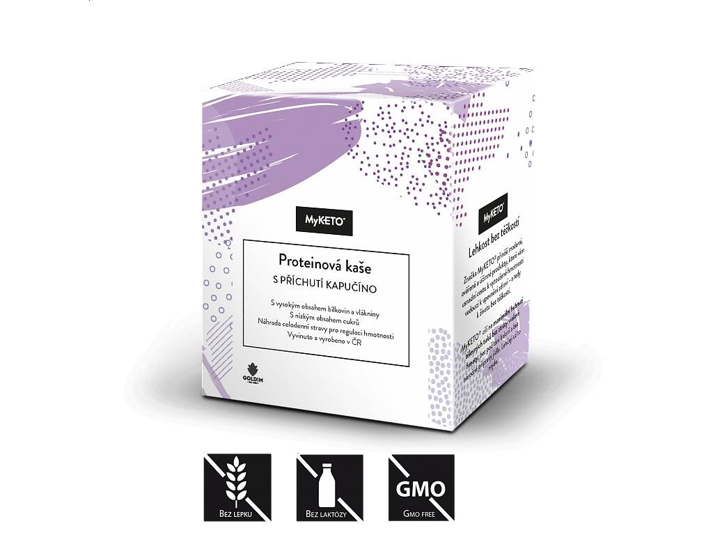 MyKETO Proteinová kaše s příchutí kapučíno, 5x40 g