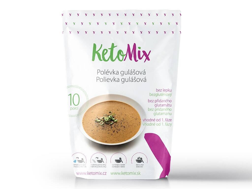 KetoMix Proteínová polievka - guľášová (10 porcií) 300 g