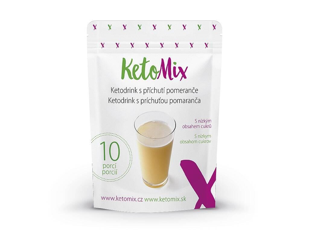 KetoMix Ketodrink s príchuťou pomaranča (10 porcií)