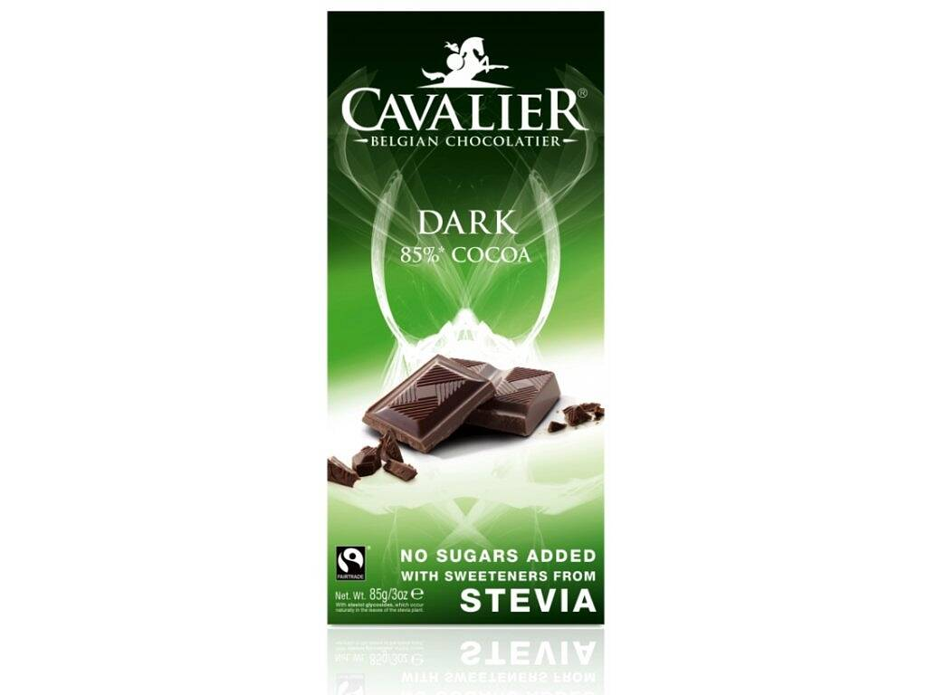 Cavalier Čokoláda DARK 85% (sladená stéviou) 85 g