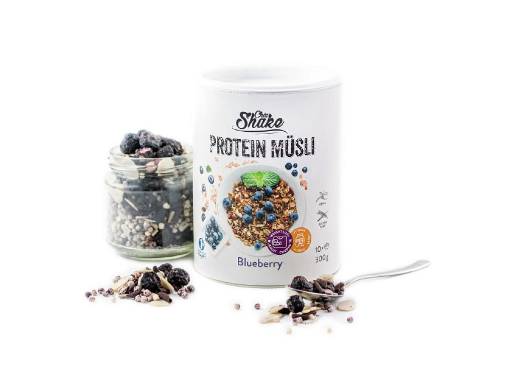 Chia Shake Proteinové müsli čučoriedka 300g