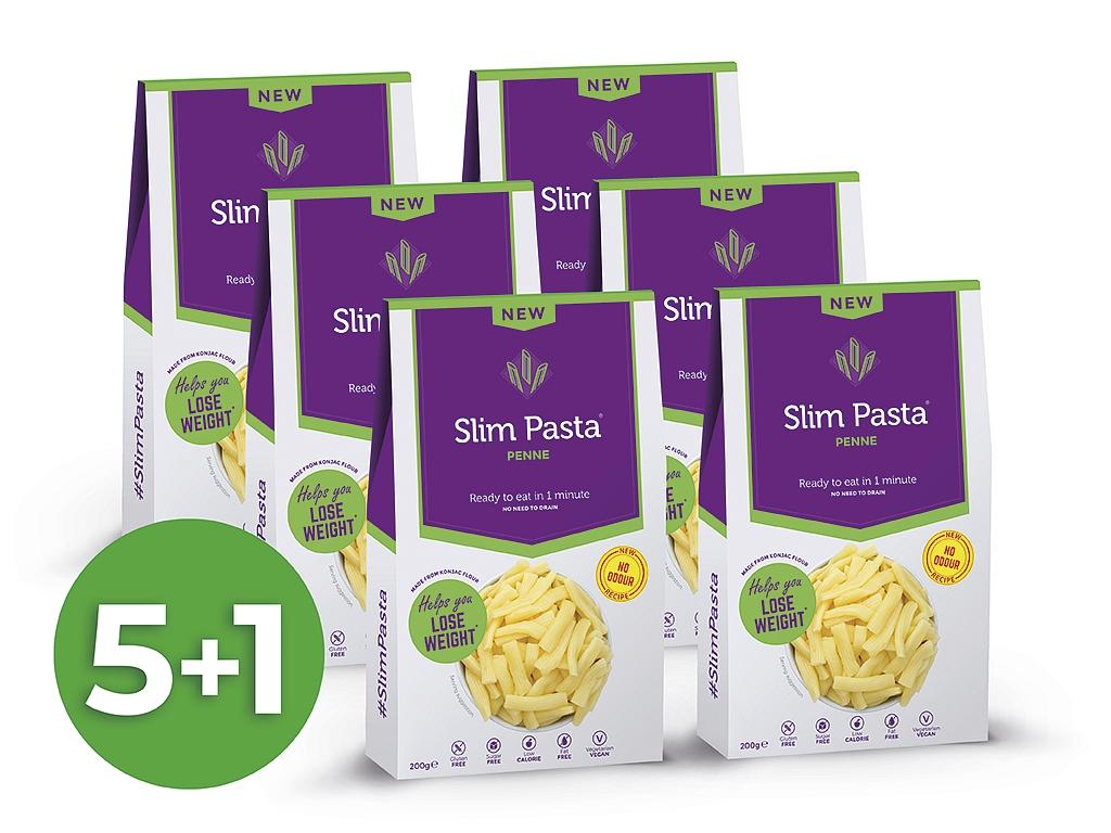 Výhodný balíček konjakových penne Slim Pasta 5+1 zadarmo bez nálevu
