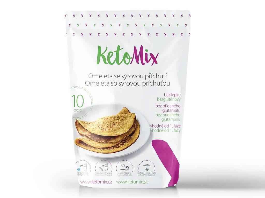 KetoMix Proteínová omeleta - so syrovou príchuťou (10 porcií) 320 g