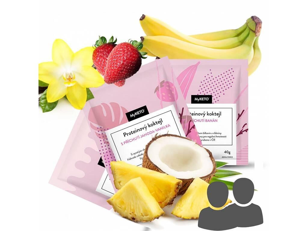 MyKETO proteinová keto dieta - MEGA výhodný letní balíček PRO DVA, 74×40g