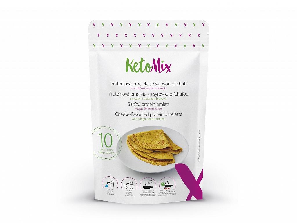 KetoMix Proteinová omeleta se sýrovou příchutí (10 porcí)