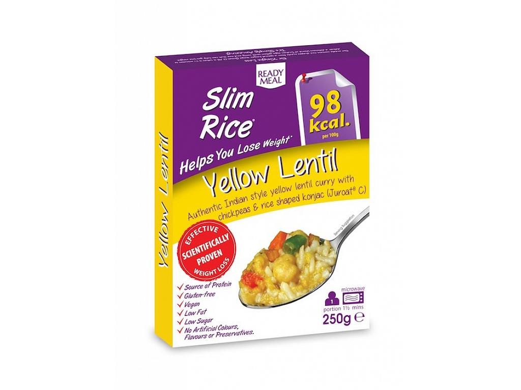Slim Rice Hotové jedlo s omáčkou na indický spôsob - Rice Yellow Lentil 250 g