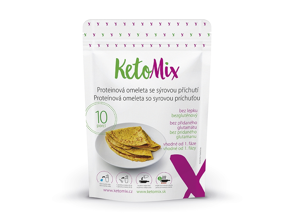 KetoMix Proteínová omeleta so syrovou príchuťou (10 porcií)