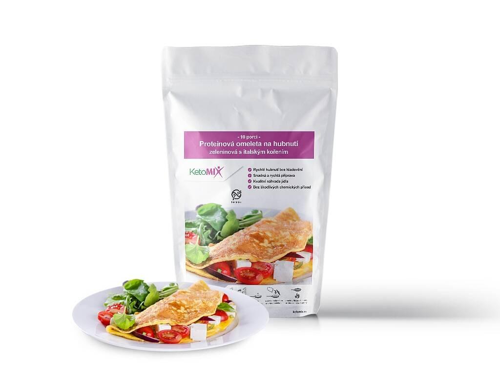 KetoMix Proteinová omeleta 320 g (10 porcí) - se zeleninovou příchutí