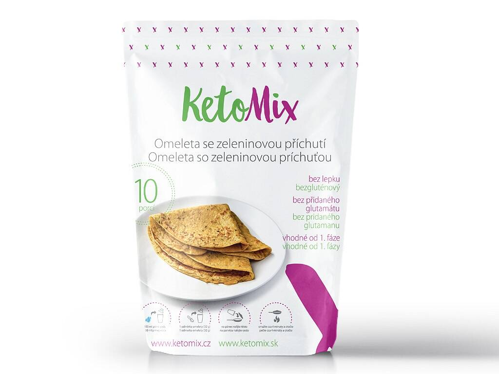 KetoMix Proteínová omeleta - so zeleninovou príchuťou (10 porcií) 320 g