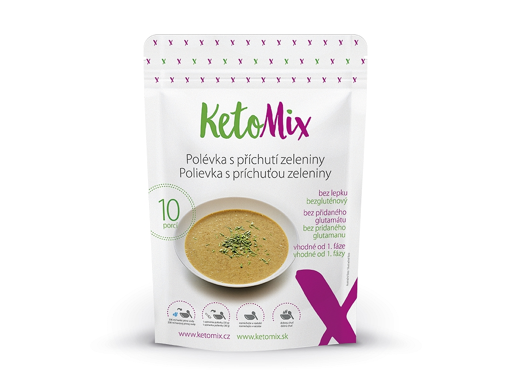 Proteínová polievka KetoMix 300 g (10 porcií) - so zeleninovou príchuťou