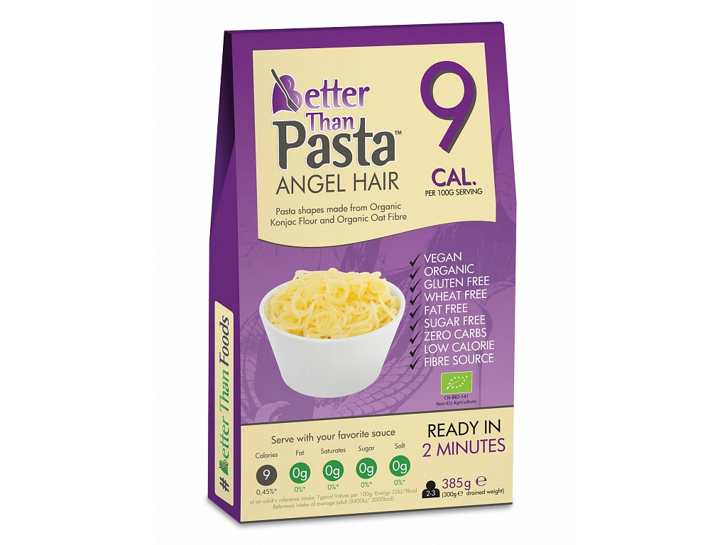 Better than Pasta Slim Pasta konjakové Angel Hair BIO - maxi balenie 385 g