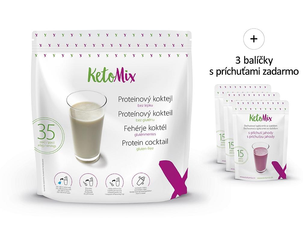 Proteínový kokteil KetoMix 1050 g (35 porcií)