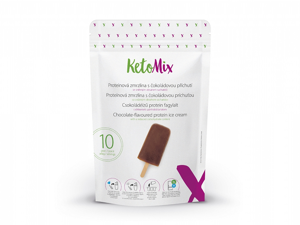 KetoMix Proteínová zmrzlina s čokoládovou príchuťou (10 porcií)
